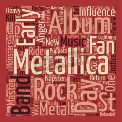 Papiers peints Metallica St Anger texte fond de mot nuage concept