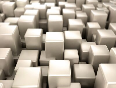 Papiers peints Métallique, cubes, métal, formes, fond