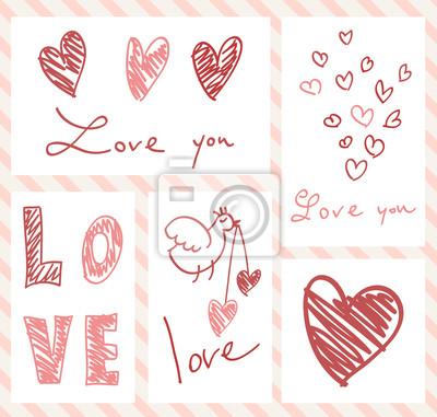 mettre des cartes de Saint-Valentin