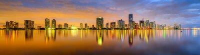 Papiers peints Miami, Floride Biscayne Bay Skyline Panorama