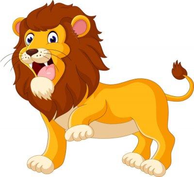 Papiers peints Mignon, lion, dessin animé, Illustration