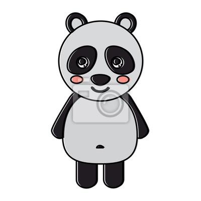 Papiers Peints Mignon Ours Panda Animal Debout Dessin Animé Faune Vecteur