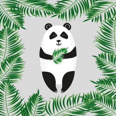 Papiers peints Mignon ours panda. Illustration vectorielle.