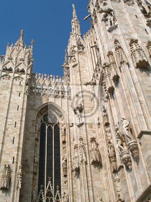 Papiers peints Milan, gothique flamboyant de la cathédrale de la capitale lombarde, Italie