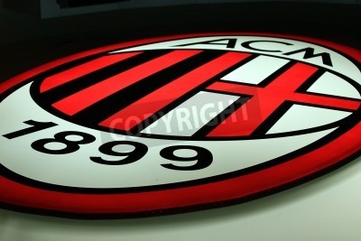 Papiers peints Milan, Italy, September 20, 2010 - AC Milan logo.