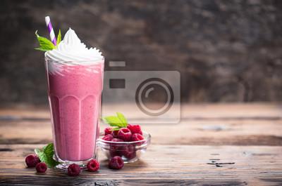 Milkshake aux framboises