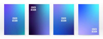Papiers peints Minimal Poster. Pastel Soft. Blue Gradient Set.