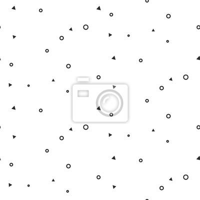 Minime, géométrique, signes, seamless, blanc, modèle Inconspicés minces cercles et triangles site Web fond monochrome modèle.
