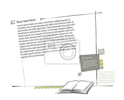 Papiers Peints Mise En Page Icone De Livre Inclus Dessin Lineaire Simple