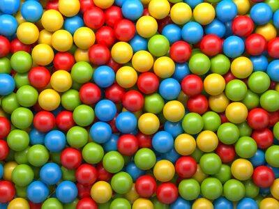 Papiers peints mixte boules de couleur fond