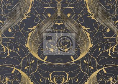 Mode floral classique motif papier peint d'intérieur