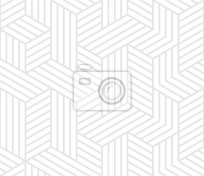 Modèle 3d de lignes et de cubes géométriques abstraites. Fond de vecteur avec motif de lignes sans soudure mosaïque blanche et grise