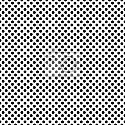 Modèle à motif sans visée monochrome dense et pointu. Fond de carreaux de polka en noir et blanc.