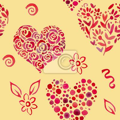 modèle avec des feuilles en forme de coeur 2