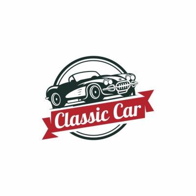 Papiers peints Modèle Classic Car Vecteur