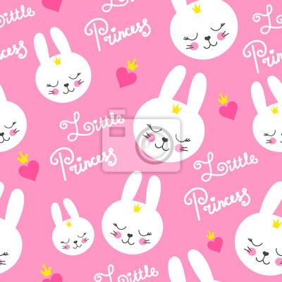 Modele De Bebe Mignon Avec Petit Lapin Dessin Anime Fille Animale