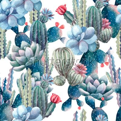 Papiers peints modèle de cactus aquarelle