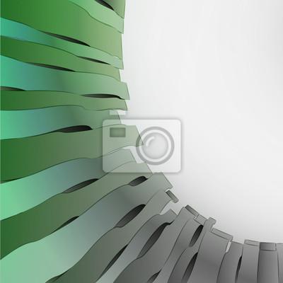 modèle de carte postale d'onde ombragée noir et blanc abstrait