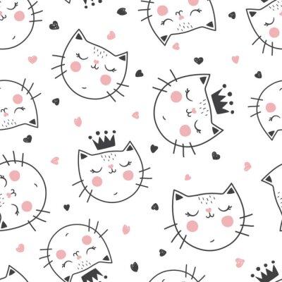 Papiers peints modèle de chat de reine