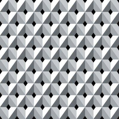 Papiers peints Modèle de diamants géométriques 3d sans couture.