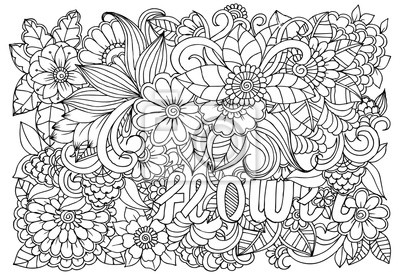 Coloriage Adulte Therapie.Modele De Fleur Noir Et Blanc Pour Livre De Coloriage Adulte Papier