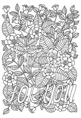 Modele Fleur Coloriage.Modele De Fleur Noir Et Blanc Pour Livre De Coloriage Adulte Papier