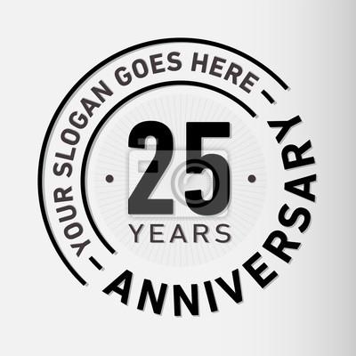 Papiers peints Modèle de logo d'anniversaire de 25 ans. Vector et illustration.
