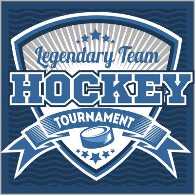 Papiers peints Modèle de logo d'équipe de hockey. Emblème, modèle de logo, conception d'habillement de T-shirt. Badge sportif pour tournoi ou championnat