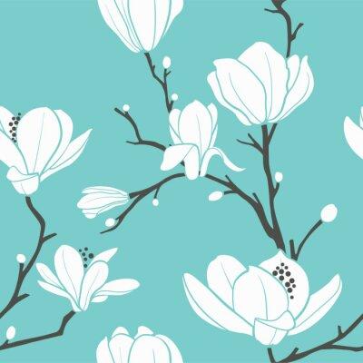 modèle de magnolia bleu