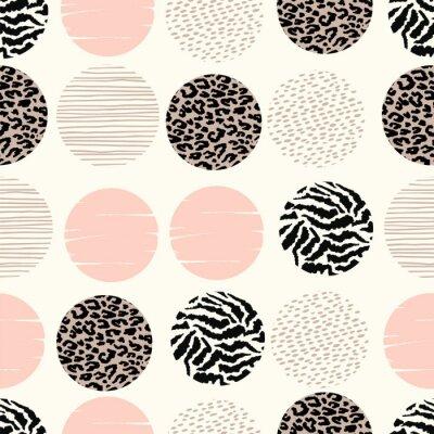 Papiers peints Modèle géométrique abstraite et transparent avec imprimés et cercles animaux.