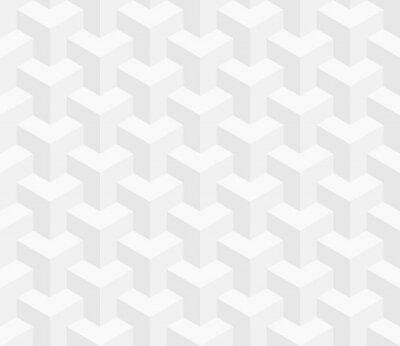 Papiers peints Modèle isométrique sans soudure. 3D, optique, illusion, fond.