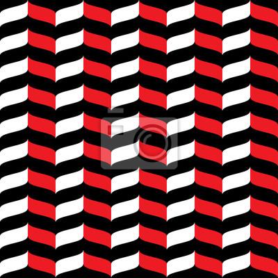 Papiers Peints Modele Ondule De Zigzag Ondule Fond Blanc Rouge Et Noir Resume