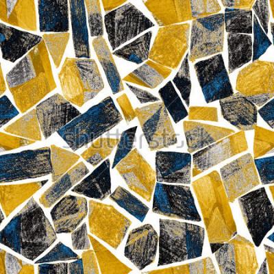 Papiers peints Modèle sans couture aquarelles abstraites. Oeuvre dans un style moderne géométrique. Contemporain. Vitrail.