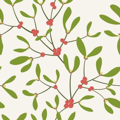 modèle sans couture avec des branches de gui. Illustration vectorielle