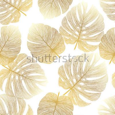 Papiers peints Modèle sans couture avec palmier tropical. Illustration vectorielle