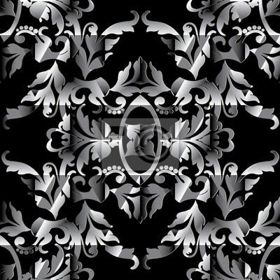 Modele Sans Couture Baroque Papier Peint De Fond Damasse De Papier