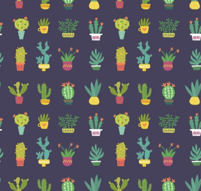Papiers peints modèle sans couture de cactus