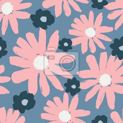 Modèle sans couture de fleurs dessinées à la main