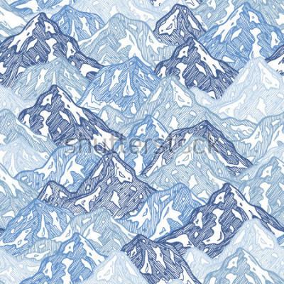 Papiers peints Modèle sans couture de montagnes. Illustration abstraite de montagnes amusantes. Illustration vectorielle