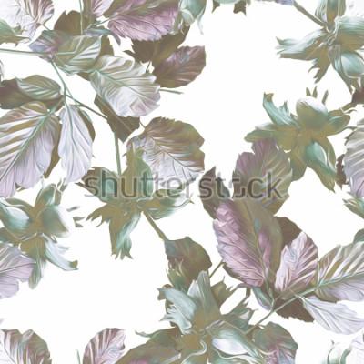 Papiers peints Modèle sans couture de noix. Illustration d'aquarelles