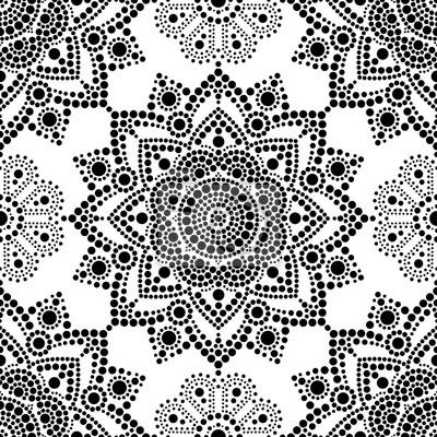 Modele Sans Couture De Peinture Dot Autochtones Boheme Mandala Papier Peint Papiers Peints Art Populaire Queensland Origine Myloview Fr