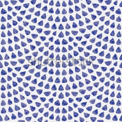 Papiers peints Modèle sans couture de vecteur avec disposition d'écaille de poisson. Éléments en forme de goutte bleu avec une texture aquarelle sur fond gris clair