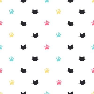 Papiers peints modèle sans couture de vecteur patte de chat