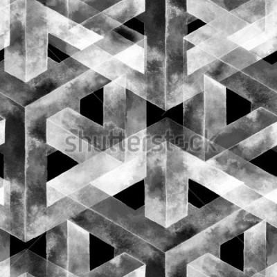Papiers peints Modèle sans couture fabriqué à partir d'une illusion d'optique. Aquarelle texture inhabituelle. Main dessinée illustration pour fond d'écran, fond et bannière.