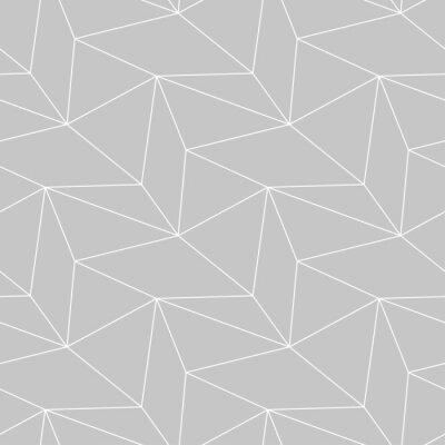 Papiers Peints Modele Sans Couture Monochrome Geometrique Gris Et Blanc