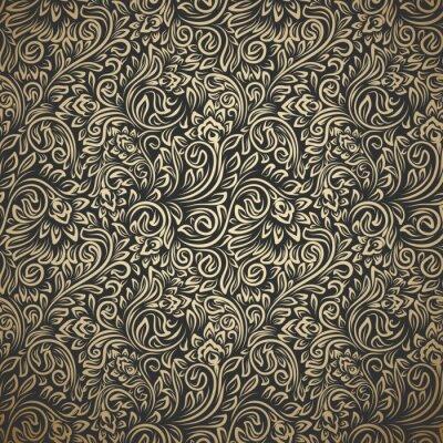 Papiers peints Modèle sans couture vintage avec boucles