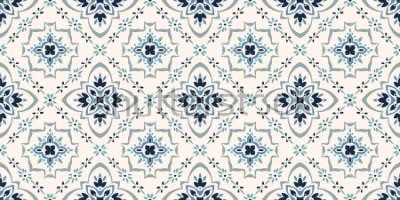 Papiers peints Modèle Talavera. Azulejos portugal. Ornement turc. Mosaïque de tuile marocaine. Porcelaine espagnole. Vaisselle en céramique, imprimé folklorique. Poterie espagnole. L'origine ethnique. Papier pei