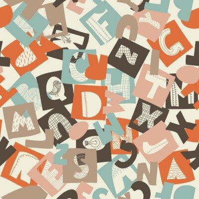 Papiers peints modèle transparent alphabet