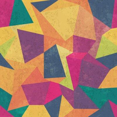 Papiers peints Modèle triangle. Coloré, grunge et sans couture. Effets grunge
