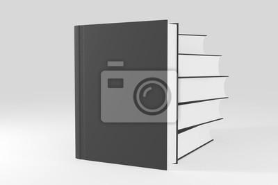Papiers Peints Modele Vierge Livre Ou Cahier Vide Sur Fond Blanc Propre 3d